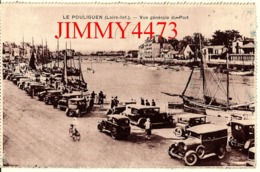 CPA Dentelées - LE POULIGUEN 44 Loire Inf. - Vue Générale Du Port En 1935 - Vieilles Voitures -  Edit. A. BRUEL - Angers - Le Pouliguen