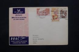 LIBAN - Enveloppe De Beyrouth Pour Basra En 1957 Par 1er Vol Londres / Tokyo ,affranchissement Plaisant - L 43683 - Libanon