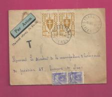 Lettre Taxée De 1948 Pour La France - YT N° 260 En Paire - Taxe N° 74 En Paire - Cameroun (1915-1959)