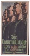 Dt.- Reich (001510) Propaganda Türblatt WHW 1936/ 1937, Die Kameradschaft überwindet Die Not - Briefe U. Dokumente