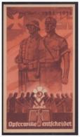 Dt.- Reich (001511) Propaganda Türblatt WHW 1935/ 36, Opferwille Entscheidet - Briefe U. Dokumente