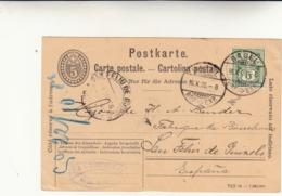 Basilea Per San Feliu De Guìxols ( Spagna ) Cartolina Intero Postale 1906 - Entiers Postaux