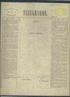 Telegramformulier Serie E Nr 245845 - 1872 - Telegraph