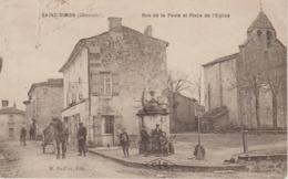 SAINT SIMON                RUE DE LA POSTE ET PLACE DE L'EGLISE - Autres Communes