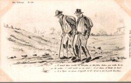 ILLUSTRATEUR VIE PAYSANNE RENE BILLAUD  AU VILLAGE  N° 12 - Other Illustrators
