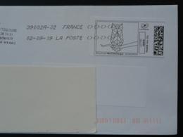 Chouette Hibou Owl Timbre En Ligne Sur Lettre (e-stamp On Cover) TPP 4468 - Hiboux & Chouettes