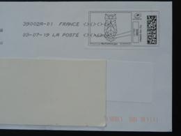 Hibou Chouette Owl Timbre En Ligne Sur Lettre (e-stamp On Cover) TPP 4476 - Hiboux & Chouettes
