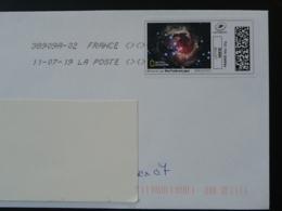 Astronomie Astronomy National Geographics Timbre En Ligne Sur Lettre (e-stamp On Cover) TPP 4478 - Astronomie