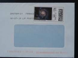 Astronomie Astronomy National Geographics Timbre En Ligne Sur Lettre (e-stamp On Cover) TPP 4479 - Astronomie