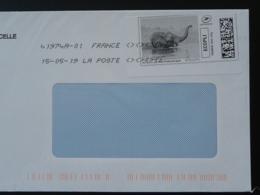 Elephant Timbre En Ligne Sur Lettre (e-stamp On Cover) TPP 4486 - Eléphants