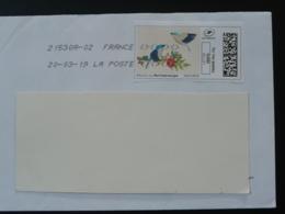 Oiseau Bird Timbre En Ligne Sur Lettre (e-stamp On Cover) TPP 4493 - Moineaux