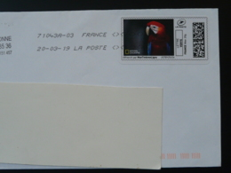 Perroquet Parrot National Geographic Timbre En Ligne Sur Lettre (e-stamp On Cover) TPP 4494 - Perroquets & Tropicaux