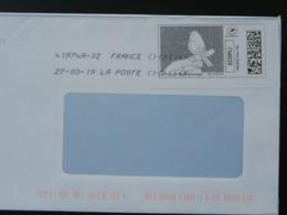 Oiseau Bird Timbre En Ligne Sur Lettre (e-stamp On Cover) TPP 4499 - Passereaux