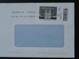 Cathedrale Notre Dame De Paris Timbre En Ligne Sur Lettre (e-stamp On Cover) TPP 4508 - Eglises Et Cathédrales