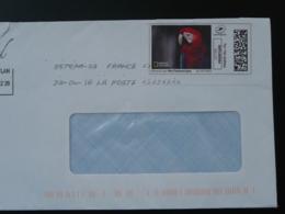 Perroquet Parrot National Geographic Timbre En Ligne Sur Lettre (e-stamp On Cover) TPP 4525 - Perroquets & Tropicaux