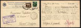 ITALIA RSI - 9.5.1944- DA PARMA VERSO VARANO DE MELEGARI - IMPERIALE 25 CENT. + 5 CENT. - FRANCOBOLLO CON BUCHI - 4. 1944-45 Repubblica Sociale