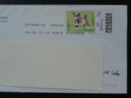 Chèvre Goat Timbre En Ligne Sur Lettre (e-stamp On Cover) TPP 4535 - Ferme