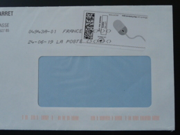 Souris Mouse Timbre En Ligne Sur Lettre (e-stamp On Cover) TPP 4565 - Computers