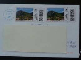 Volcan Volcano Ile De La Réunion Timbre En Ligne Sur Lettre (e-stamp On Cover) TPP 4571 - Francia
