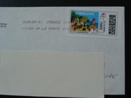 Carnaval De Guadeloupe Carnival Timbre En Ligne Sur Lettre (e-stamp On Cover) TPP 4582 - Carnavales