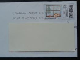 Chat Cat Timbre En Ligne Sur Lettre (e-stamp On Cover) TPP 4585 - Chats Domestiques