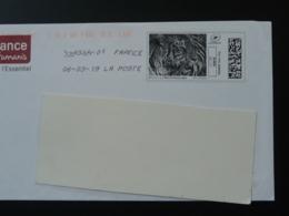 Lion Timbre En Ligne Sur Lettre (e-stamp On Cover) TPP 4596 - Félins