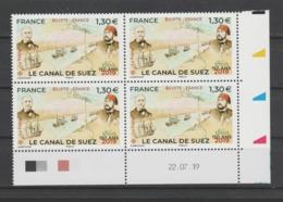 FRANCE / 2019 / Y&T N° 5347 ? ** : Canal De Suez X 4 - Coin Daté 2019 07 22 - Coins Datés