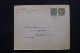 IRAQ - Enveloppe Commerciale De Baghdad Pour Bruxelles En 1936 , Affranchissement Plaisant - L 43711 - Iraq