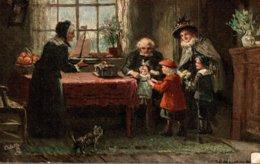 RAPHAET TUCK & SONS OILETTE  FLEMISH COTTAGE HOMES - Tuck, Raphael