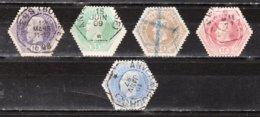 TG3A/7A  Leopold II - Série Complète - Oblit. - Papier ? - LOOK!!!! - Telegraph