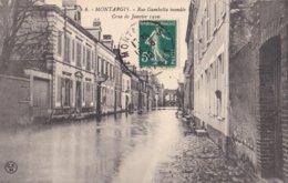 Montargis : Rue Gambetta Inondée - Crue De Janvier 1910 - N° 6 - Montargis