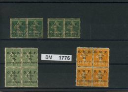 BM1776, Syrien, Xx,x,o, Sammlungsauflösung,  2 X 4-er Block + 2 Paare, Evtl. Aufdruckfehler Auf A6 K. - Syrien