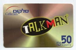 Telecarte Prépayée °_ Israel-Cellcom-Talkman.50- R/V 2898 - Israël