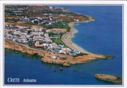 1 AK Griechenland * Blick Auf Anissaras Auf Der Insel Kreta - Mit Vorgelagerter Insel - Luftbildaufnahme * - Grecia