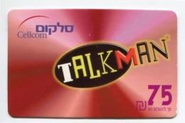 Telecarte Prépayée °_ Israel-Cellcom-Talkman.75- R/V 9039 - Israel