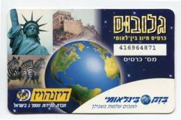 Telecarte Prépayée °_ Israel-Liberté-Zèbre-Planète R/V 4871 - Israël