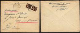 ITALIA REGNO - POSTA MILITARE - 29.6.1945 - DA PIETRAMELARA VERSO ROMA - COPPIA POSTA AEREA DA 50 CENT. - 1900-44 Victor Emmanuel III