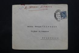 IRAQ - Enveloppe Commerciale De Baghdad Pour Bruxelles En 1939 , Affranchissement Plaisant - L 43717 - Iraq