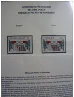 Emissioni Congiunte 1998, Mniszech Palace Joint Issue BELGIO - POLONIA 2 Serie Cpl. 2v. Nuovi** Perfetti - Gemeinschaftsausgaben