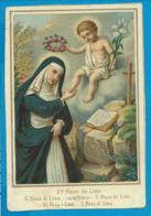 Holycard   St. Rosa De Lima - Santini