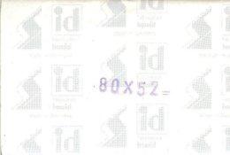 I.D. - Pochettes 80x52 Fond Noir (double Soudure) - Bandes Cristal