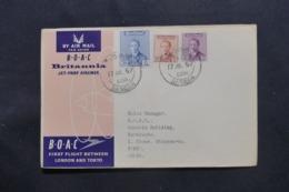 IRAQ - Enveloppe De Basrah Pour Tokyo Par 1er Vol Londres / Tokyo En 1957 , Affranchissement Plaisant - L 43721 - Irak
