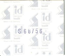 I.D. - Pochettes 68x56 Fond Noir (double Soudure) - Bandes Cristal