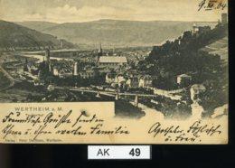 AK049, Wertheim Am Main, Gelaufen 1904 - Wertheim