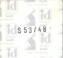 I.D. - Pochettes 53x48 Fond Noir (double Soudure) (emballage Ancien) - Bandes Cristal