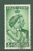 Gibraltar: 1948   Royal Silver Wedding    SG134   ½d    Used - Gibilterra