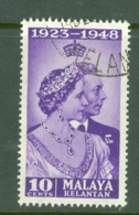 Malaya - Kelantan: 1948   Royal Silver Wedding    SG55  10c    Used - Kelantan