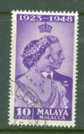 Malaya - Malacca: 1948   Royal Silver Wedding    SG1   10c    Used - Malacca