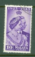 Malaya - Penang: 1948   Royal Silver Wedding    SG1   10c    Used - Penang