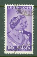Malaya - Trengganu: 1948   Royal Silver Wedding    SG61  10c    Used - Trengganu